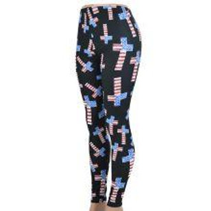 Cross US Flag Leggings