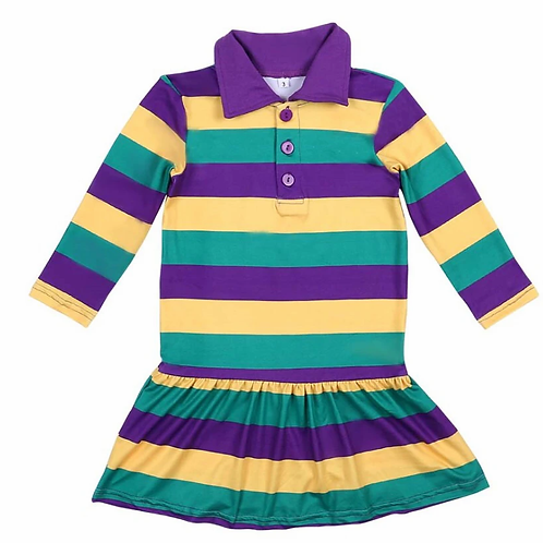 Mardi Gras Rugby Dress