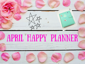 April Happy Planner Monthly Layout