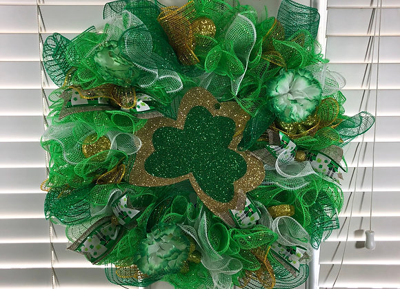 St. Patrick's Day Deco Mesh Wreath