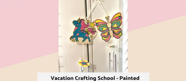 Vacation Crafting School - Painted Wooden Wind chime
