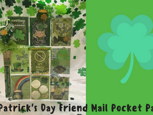 St. Patrick's Day Friend Mail Pocket Pages
