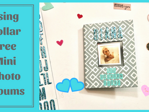 Using Dollar Tree Mini Photo Albums