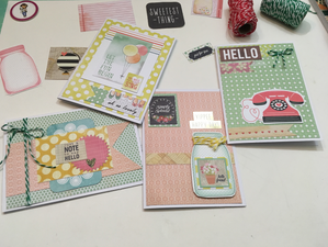Using 6 X 6 Paper Pads to Make Cards For Your Stash