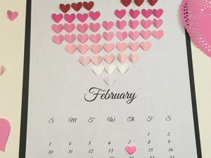 February Heart Calendar