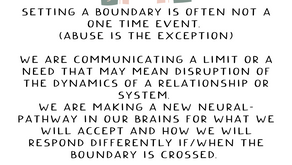 All About Setting Boundaries