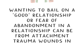 """Where """"Wanting To Bail"""" Comes From"""