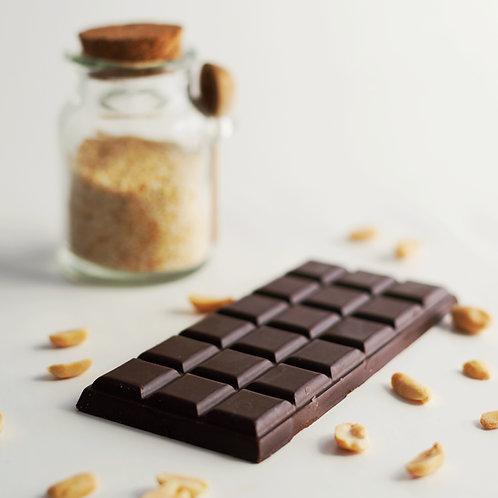 Натуральный шоколад на кэробе с кунжутом 80гр