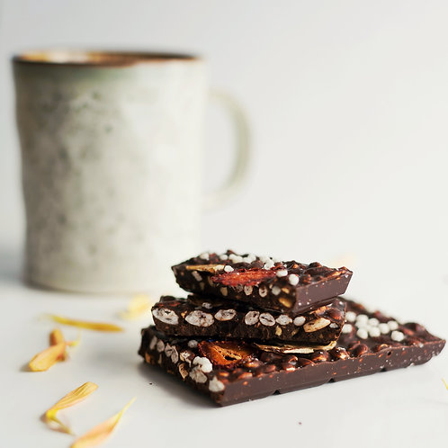 CarobSchokolade FLOCKENBLUME 100g