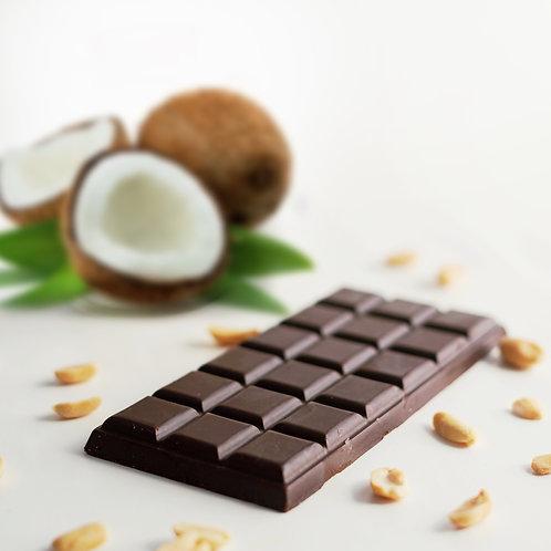 Натуральный шоколад на основе кэроба с кокосом 80g