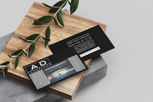 AD Black Business Card Design & Template