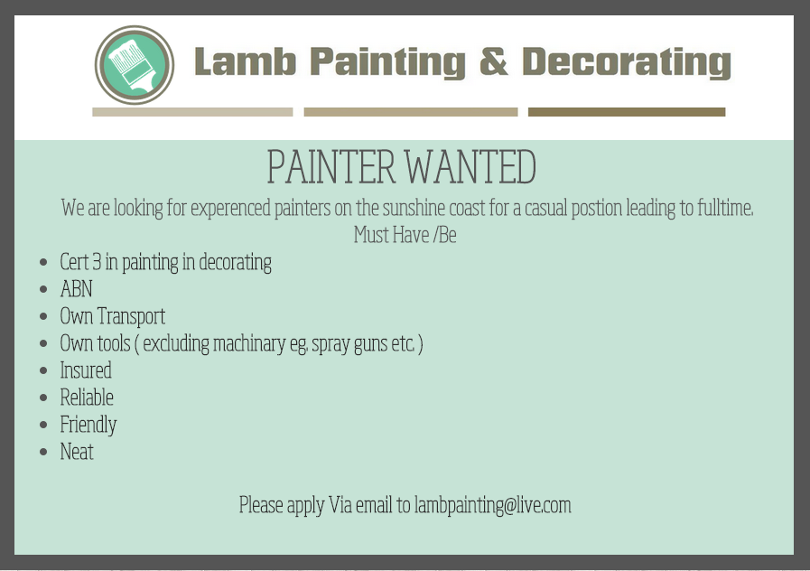 Painters Wanted!