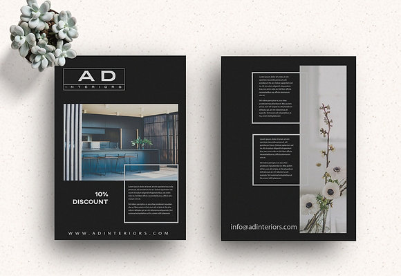 AD Black Flyer Design Template