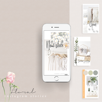 Floral Stories Template Extended Use