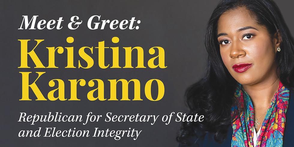 SOS Candidate Kristina Karamo Meet & Greet