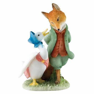 Beatrix Potter, Jemima and the Foxy Whiskered Gentleman Mini Figure