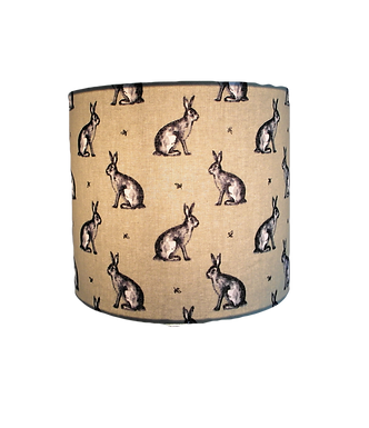 Clearance Country Rabbit Sage,  Handmade Lampshade