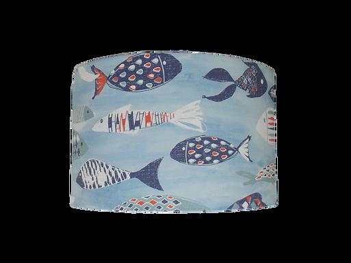 Clearance Ocean Fish, Nautical Seaside Themed Handmade Ceiling Lampshade