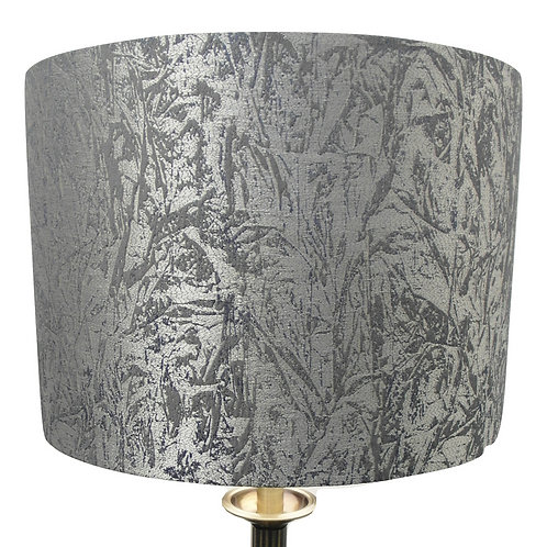 Silver Velvet Handmade Lampshade, Drum or Empire Shapes