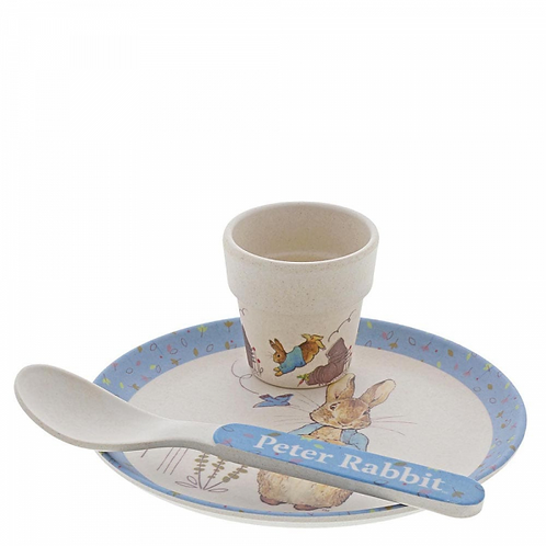 Beatrix Potter Peter Rabbit, Bamboo Egg Cup Dinner Set