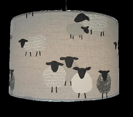 Billie Bah, Sheep Handmade Lampshade, Drum or Empire Shapes