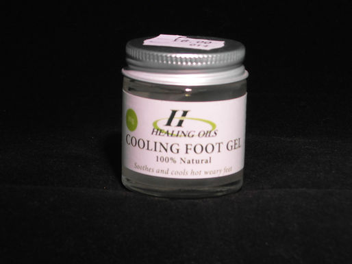 Cooling Foot Gel, (Soothes and cools hot weary feet)