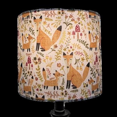 Fox and Cub Drum Lampshade