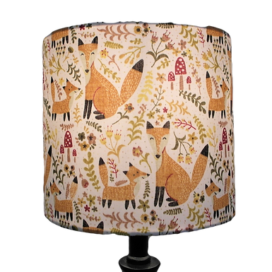 Fox and Cub Drum or Empire Lampshade