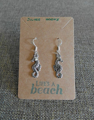 Seahorse Earrings With Hooks