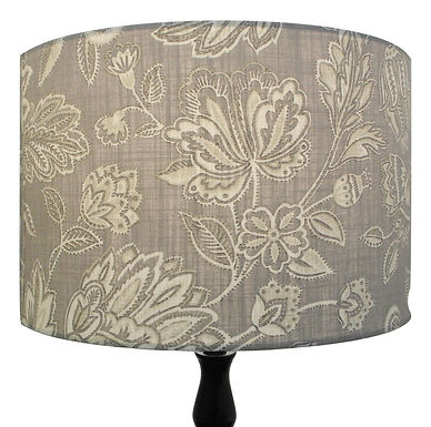 Grey Amore Flowers and Leaves shade, Drum or Empire Shapes