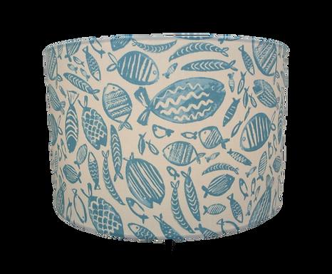 Clearance Blue Fish, Seaside Themed Handmade Lampshade