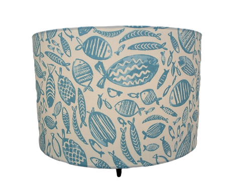 Blue Fishes, Seaside Themed Handmade Lampshade