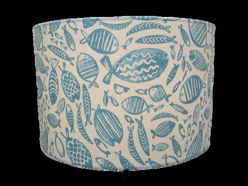 Blue Fish, Seaside Themed Handmade Lampshade