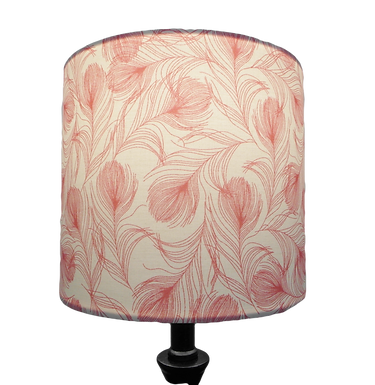 Pink Feathers Handmade Shade, Drum or Empire Shapes