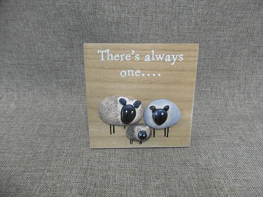 Black Sheep Standing 3d Plaque