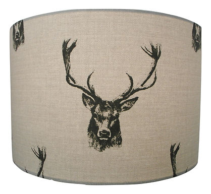 Stag Head Handmade Lampshade, Drum or Empire Shapes