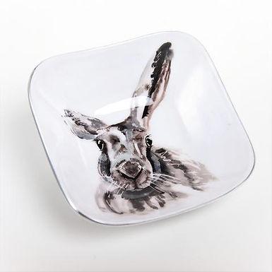 Hare Recycled Aluminium Square Bowl