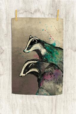 Badger Tea Towel