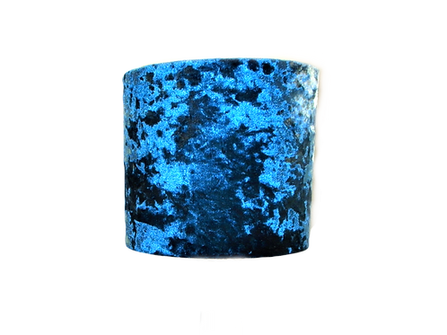 Peacock Blue Crushed Velvet Handmade Lampshade, Drum or Empire Shapes