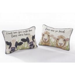 Ewe or Cow Slogan Cushion
