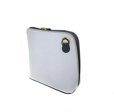 Vera Tucci 'Rhiannon' Italian Light Grey Leather Shoulder Bag