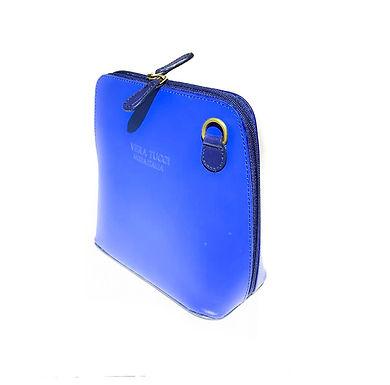 Vera Tucci 'Rhiannon' Italian Leather Royal Blue/Navy Shoulder Bag