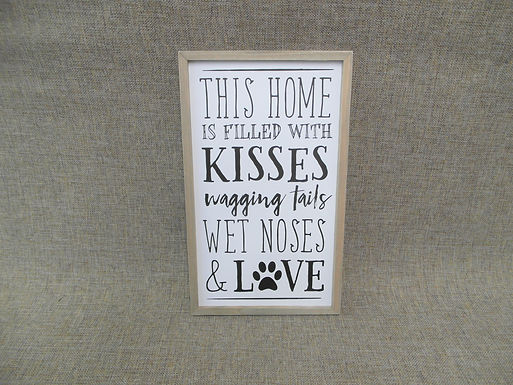 Large Hanging Dog Lovers Home Sign