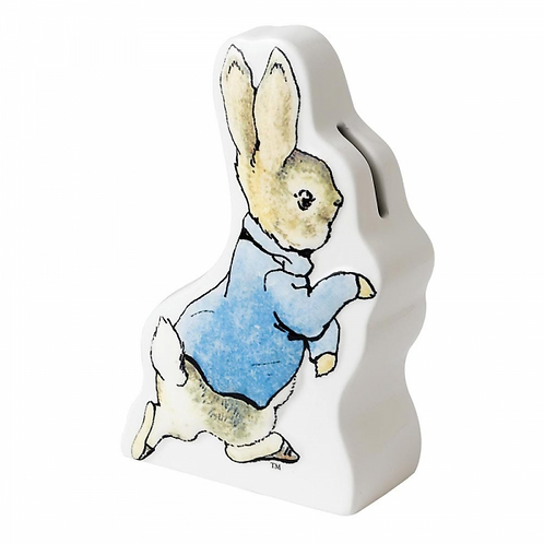 Beatrix Potter Ceramic Peter Rabbit Running Money Bank