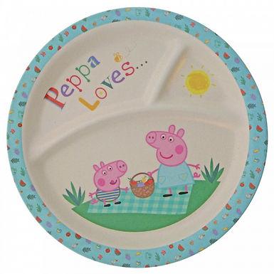 Peppa Pig Bamboo Plate