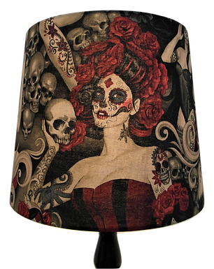 Las Elegantes, Day of the Dead, Tattooed Lady, Drum or Empire Lampshades
