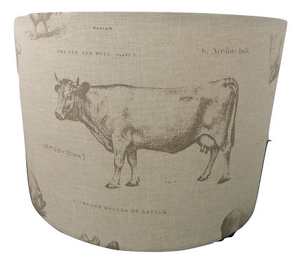 Classic farmyard Design Handmade Lampshade, Drum or Empire Shapes