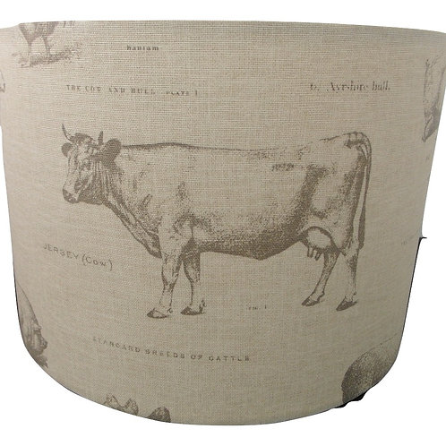 Classic farmyard Design Handmade Lampshade, Drum or Empire Shapes