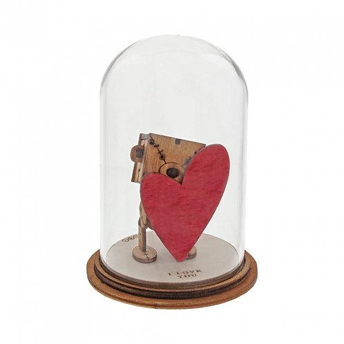 I Love You Figurine, Kloche Little Wooden Bear