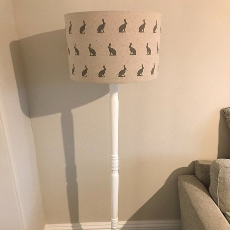 Hare Silouette 40cm drum Lampshade